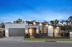 Vista Display Homes in Jimboomba Modern House Facades, Modern House Design, Facade House, House Roof, Display Homes, Building A New Home, Exterior House Colors, Facade Design, House Plans