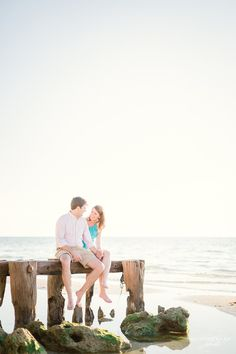 Naples Beach Engagement Photos | Florida Destination Wedding Photographer | Naples Pier Sunset Engagement Photos | www.hunterryanphoto.com