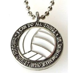 Volleyball charm $9.99 too bad it's illeagal to wear necklaces during the game. Want this sooo bad!