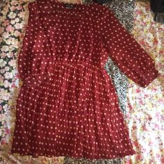 Vintage style coffee dress Never worn. Above the knee length. Cute! Forever 21 Dresses Long Sleeve