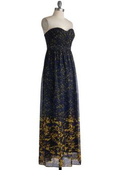 Inaugural Exhibition Dress, #ModCloth: This dress, or should I say gown, is such a beautiful piece of clothing <3 With an airy, mythological style about it, it could easily be a show-stopper, or dressed down to look stunningly simple