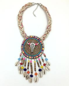 Find More Choker Necklaces Information about 2016 New handmade Bohemia Boho Choker Necklaces Tibetan Tauren Taurus pendants Necklaces beaded charm necklace,High Quality necklace korea,China beaded stone necklace Suppliers, Cheap bead rosary necklace from J&M Fashion Items on line on Aliexpress.com