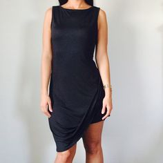 BEAUTIFUL BLACK FORMAL DRESS Black dress, new, retail. Size large. Stretches. Great for special occasions. Dresses Prom