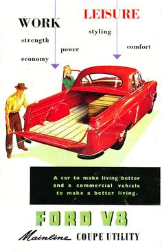 1953 Ford V8 Mainline Coupe Utility (Australia) page 1