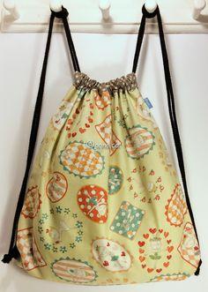 Ref. ML17- Davant de motxilla, de tela - Delante de mochila, de tela - Drawstring backpack, front, of fabric... aprox. 36 x 36cm VENUDA-VENDIDA-SOLD OUT