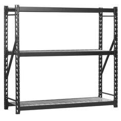 ... on Pinterest | Garage shelving, Steel shelving and Garage organization