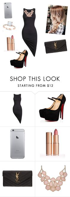 """""""Date Night"""" by yourfashionbabe ❤ liked on Polyvore featuring beauty, Christian Louboutin and Yves Saint Laurent"""