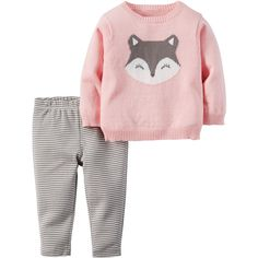 2-Piece Little Sweater Set (46 BRL) ❤ liked on Polyvore featuring baby girl