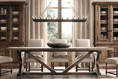 Favorite Farmhouse Trestle Tables (& Progress on Our Kitchen Banquette) - Driven by Decor