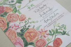 hand painted rose invitation | considertheliliespaper.com.jpg