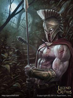 Fantasy Warrior, Greek Warrior, Warrior King, Fantasy Art, Skeleton Warrior, Greek Mythology Tattoos, Greek Mythology Art, Odin Norse Mythology, Gladiator Tattoo