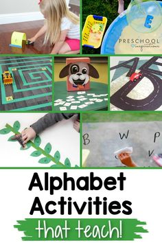 Need some new and creative ways to teach the alphabet? Look no further! Here's a great list of alphabet activities that make learning the ABC's easy and fun! Perfect for preschool and kindergarten. Preschool Writing, Preschool Education, Preschool Learning Activities, Preschool Prep, Preschool Teachers, Ways Of Learning, Early Learning, Learning Resources, Teaching The Alphabet
