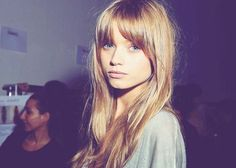 I am in love with these bangs...