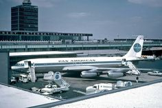 PanAm B707 upon arrival at JFK 1964