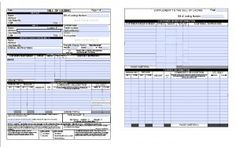 Shipping bills of lading are required for any shipment you plan to