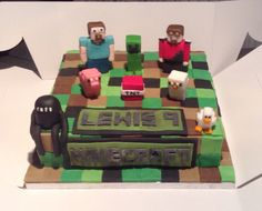 Minecraft cake from Cakes By Nicky
