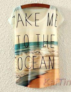 Beach Printed T shirt