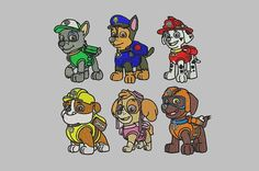 Hey, I found this really awesome Etsy listing at https://www.etsy.com/listing/227949485/paw-patrol-embroidery-design-6-pack