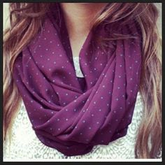 Purple with tiny blue polka dots<3