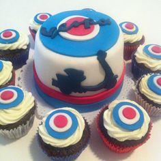 Vespa cake and cupcakes
