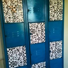 Old school lockers that I painted