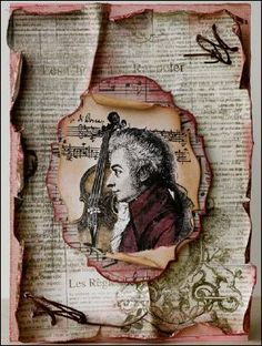 New LaBlanche Stamp Company - Mozart with Violin - Scrapbook.com