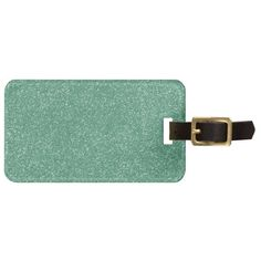 PANTONE Lucite Green with faux Glitter Tags For Luggage