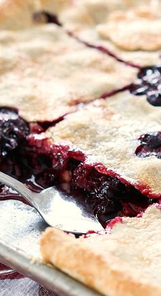 Mas Mixed Berry Slab Pie is the most asked for pie at dinner gatherings and outings too