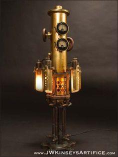 Mystarium Table Lamp, handmade steampunk by JWKinseysArtifice
