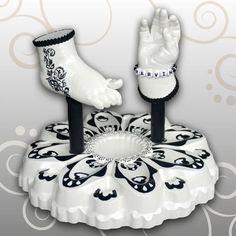 Handabdruck & Fußabdruck Baby Blume - der Fuß verziert ein hübsches Tattoo von Ivana Irmscher Be happy Gipsabdruck Fürth, www-be-happy-gipsabdruck.de