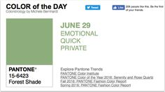 APPart – Mobile Art – Pantone Color of the Day – 'Forest Shade' – TheAppWhisperer