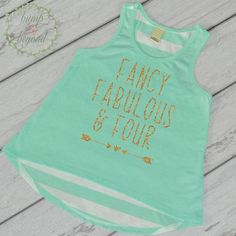 Fancy Fabulous and Four, Fourth Birthday Shirt - This adorable tank top makes a…
