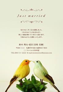 写真なしのデザイン|結婚報告はがき「結婚しました」の報告ならソルトウエディング