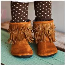 Baby & Toddler Gracious May Chestnut Moccasins *FREE Shipping* Sizes 1(0-3 months) up to 10. Back zipper.