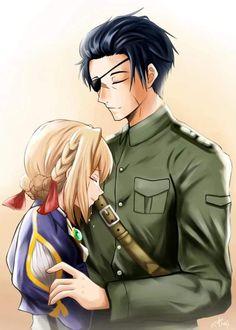 Violet Evergreen, Violet Evergarden Anime, Couple Illustration, Anime Films, Anime Love, True Love, Anime Art, Animation, Romantic