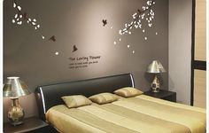 Plum blossom decal with flying birdsFloralwall by DreamKidsDecal, $46.00