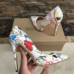 high heels – High Heels Daily Heels, stilettos and women's Shoes Hot High Heels, Cute Heels, Painted Shoes, Fall Shoes, Beautiful Shoes, Pumps Heels, Stilettos, Me Too Shoes, Fashion Shoes