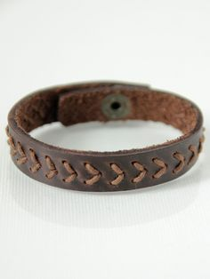 Stitched Leather Bangle