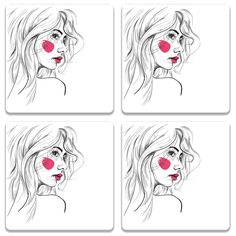 Quirky product on Colorpur Girl Sketch On Wh.... Check out http://www.colorpur.com/products/girl-sketch-on-white-coaster-set-of-4-artist-abhinav?utm_campaign=social_autopilot&utm_source=pin&utm_medium=pin