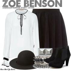 Inspired by Taissa Farmiga as Zoe Benson on American Horror Story: Coven.