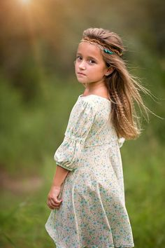 Dress made by Because of Brenna; Fabric by Art Gallery Fabrics Kid Hairstyles, Cute Poses, Casual Attire, Children Clothes, Sewing For Kids, Cotton Dresses, Knit Dress, Dress Making, Kids Outfits