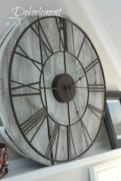 Vintage Wanduhr, clock, clock selfmade, clock vintage