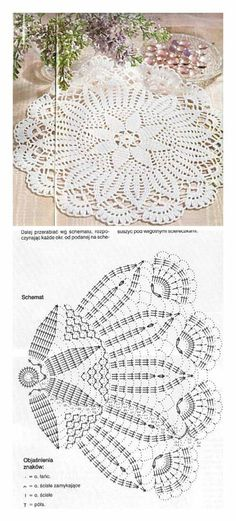 serweta / elementy do łączeniaLearn to knit and Crochet with Jeanette: Patterns of crochet doilies.This Pin was discovered by МарLearn to knit and Crochet with me. I have made some videos and I also am uploading some patterns for you to try. Free Crochet Doily Patterns, Crochet Doily Diagram, Crochet Motif, Crochet Designs, Crochet Lace, Free Pattern, Crochet Tablecloth Pattern, Crochet Shawl, Knitting Patterns