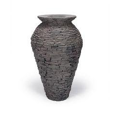 Found it at Wayfair - Medium Stacked Slate Urn