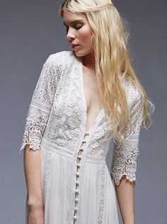 Spell and the Gypsy Collective Off White Aurora Gown at Free People Clothing Boutique