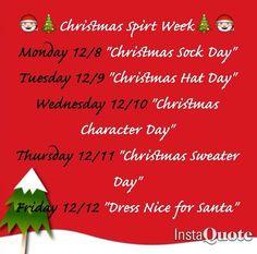 Christmas Spirit Week Ideas School.Image Result For Holiday Spirit Week Ideas Christmas Ideas