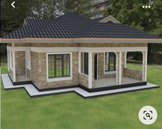 Cheap House Plans, Affordable House Plans, My House Plans, House Arch Design, Village House Design, Small House Design, Bungalow Style House, Bungalow House Plans, 3 Bedroom Bungalow