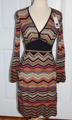 MISSONI Dress Wool Blend Size 4 US 40 Italy NEW NWT #Missoni #EmpireWaist #Casual
