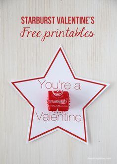 Starburst Valentines {FREE printables} I Heart Nap Time | I Heart Nap Time - Easy recipes, DIY crafts, Homemaking
