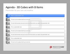 Professional ppt agenda template 5 elegant items to present your professional powerpoint agenda template 3d cubes with 8 items httpwww toneelgroepblik